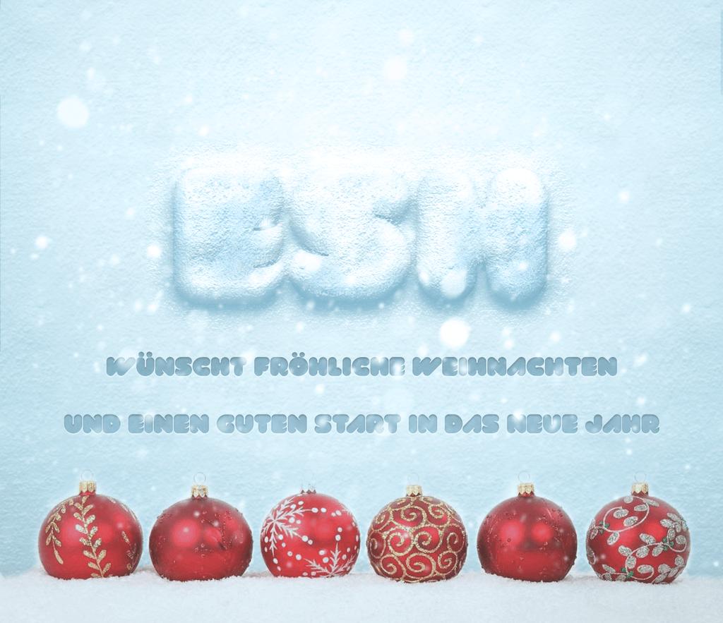 Weihnachtsgrüße Text Für Mitarbeiter.Weihnachtsgrüße Und Ein Neues Jahr E S H Eichsfelder Systemhaus