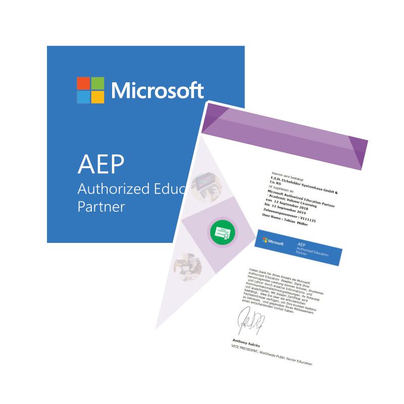 Microsoft Authorized Education Partner – E S H    Eichsfelder